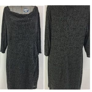 🔥30 MIN. SALE DARK GRAY LACE AND SEQUINED DRESS